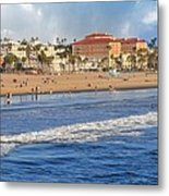 Santa Monica Beach View  Metal Print