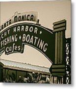 Santa Monica Pier Sign Metal Print