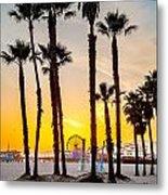 Santa Monica Palms Metal Print