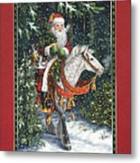 Santa Of The Northern Forest Metal Print