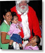 Santa Poses With Fans At Annual Christmas Parade Eloy Arizona 2004 Metal Print