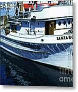 Santa Rosa Purse-seiner Fishing Boat Monterey Bay Circa 1950 Metal Print