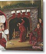 Santa Surprise Metal Print by Kimberly Daniel