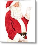 Santa Waving Metal Print