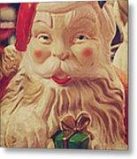 Santa Whispers Vintage Metal Print