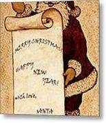Santa Wishes Digital Art Metal Print