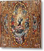 Santarem Cathedral Painted Ceiling Metal Print
