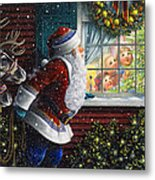 Santa's At The Window Metal Print