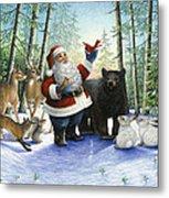 Santa's Christmas Morning Metal Print