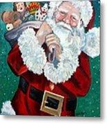 Santa's Coming To Town Metal Print