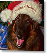 Santa's Helper Metal Print