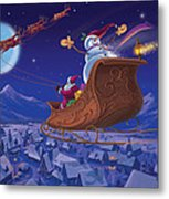 Santa's Helper Metal Print by Michael Humphries