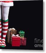 Santas Little Helper Metal Print by Edward Fielding