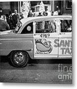 Santa's Taxi Metal Print