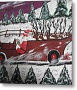Santa's Truckload Metal Print