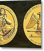 Santee Sioux Tribe Code Talkers Bronze Medal Art Metal Print