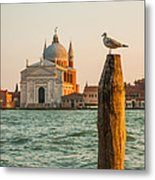 Santissimo Redentore At Sunset Metal Print