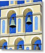 Santorini Bell Tower 2 Metal Print