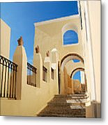 Santorini Catholic Cathedral  Metal Print