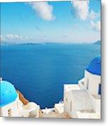 Santorini Island, Greece, Beautiful Metal Print