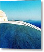 Santorini Island Greece Metal Print