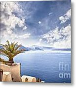 Santorini Island Metal Print