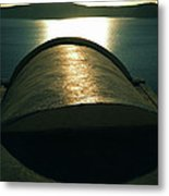 Santorini Lines By Night  Metal Print