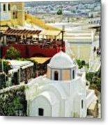 Santorini Overlook Metal Print