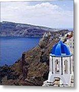 Santorini Panorama 2 Metal Print