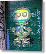 Sao Paulo Green Door II Metal Print