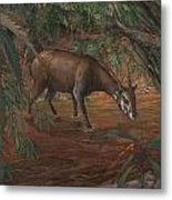 Saola Metal Print by ACE Coinage painting by Michael Rothman
