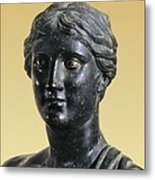 Sappho 612-545 Bc. Greek Art. Sculpture Metal Print