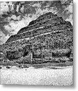 Saqqara Pyramid Metal Print by George Rossidis