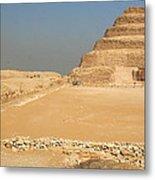 Saqqara Step Pyramid Metal Print