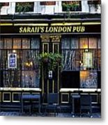 Sarah's London Pub Metal Print