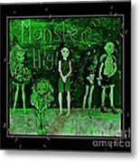 Sarah's Monster High Collection Frankenstein Effect Metal Print