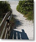 Sarasota Beach Walk Path. Metal Print