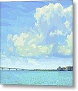 Sarasota Skyline From Sarasota Bay Metal Print