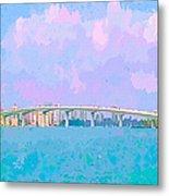 Sarasota Via Ringling Bridge Metal Print