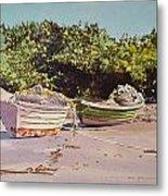 Sardine Dories On The Beach Metal Print