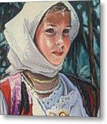 Sardinian Girl Metal Print