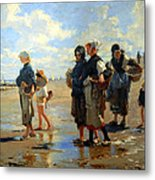 Sargent's En Route La Peche -- Setting Out To Fish Metal Print