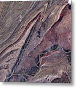 Satellite View Of Big Horn, Wyoming, Usa Metal Print