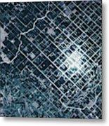 Satellite View Of Fields In Sonora Metal Print