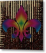 Satin Lily Symbol Digital Painting Metal Print
