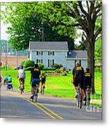 Saturday Bike Ride Metal Print by Tina M Wenger