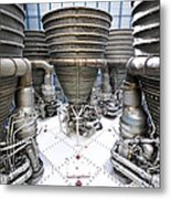 Saturn Five Rockets Metal Print