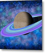 Saturn Journey Metal Print
