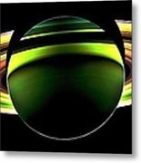 Saturn Shadow Metal Print