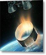 Saturn V Interstage Separation, Artwork Metal Print